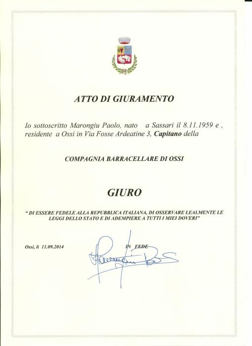 giuramento capitano barracellare 11 sett 2014